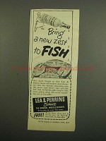 1949 Lea & Perrins Worcestershire Sauce Ad - Fish