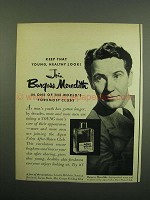 1950 Aqua Velva After Shave Ad - Burgess Meredith
