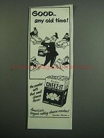 1950 Sunshine Cheez-it Crackers Ad - Any Old Time