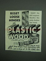 1950 Plastic Wood Ad - Reset Loose Hinges