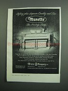 1951 Winter Musette Piano Ad - Styling Plus Quality