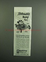 1951 Majestic Rotomatic Lawn Mower Ad - Mowing's Fun