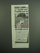 1951 Scotts Lawn Care Ad - Carpet of Green Turf
