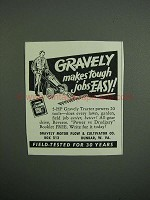 1951 Gravely Tractor Ad - Makes Tough Jobs Easy