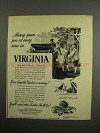 1952 Virginia Dept. of Conservation and Development Ad
