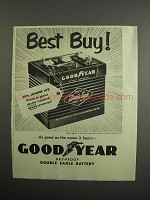1952 Goodyear Double Eagle Battery Ad - Best Buy!