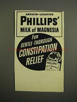 1952 Phillips' Milk of Magnesia Ad - Antacid-Laxative
