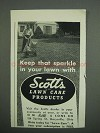 1953 Scotts Lawn Care Products Ad - Keep That Sparkle