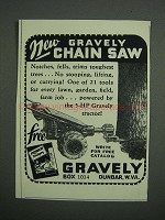 1953 Gravely Chain Saw Ad
