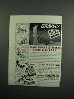 1954 Gravely Tractors Ad - More for Your Money