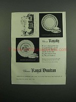 1954 Royal Doulton Willow & Grantham Dinnerware Ad