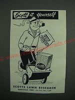 1954 Scotts Lawn Seed Ad - Scott It Yourself