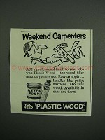 1954 Plastic Wood Ad - Weekend Carpenters