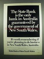 1984 State Bank of New South Wales Ad - Guaranteed