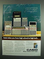 1984 Casio Calculators Ad - FX-3600P FX-910 FX-700P