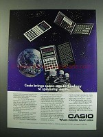 1984 Casio Calculator Ad - FX-910, FX-90, FX-450