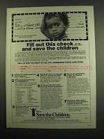 1984 Save the Children Ad - Fill Out This Check