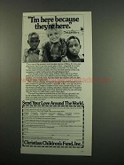 1984 Christian Children's Fund Ad - Sally Struthers