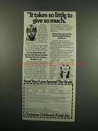 1984 Christian Children's Fund Ad - Sally Struthers - Give So Much