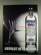 1984 Absolut Vodka Ad - Absolut Attraction