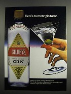 1984 Gilbey's Gin Ad