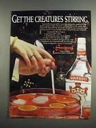 1984 Smirnoff Vodka Ad - Get the Creatures Stirring