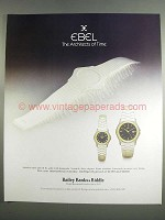 1984 Ebel Watches Ad - The Architects of Time