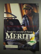 1984 Merit Cigarettes Advertisement - A World of Flavor