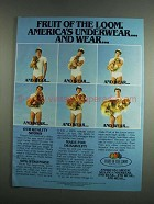 1984 Fruit of the Loom Underwear Ad - And Wear