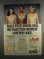 1984 Bali Bras Ad - No Matter Which 34B You Are