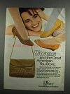 1984 Kinney Woven Leather Shoes and Shoulder Bags Ad