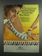 1984 Kinney Summer Sandal Collection Ad