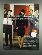 1984 Hanes Alive Support Pantyhose Ad - I'm Wearing