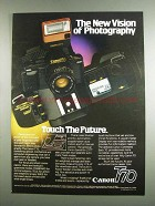 1984 Canon T70 Camera Ad - The New Vision