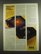 1984 RCA Video Tape Ad - When You're Playing for Keeps