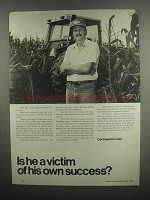 1984 Continental Grain Ad - Is He a Victim?