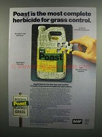 1984 BASF Poast Herbicide Ad - Most Complete