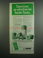 1984 Snyder Industries Agri-Tank Ad - No Substitute