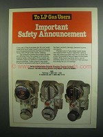 1984 Robertshaw Controls Ad - Safety Announcement