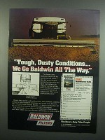 1984 Baldwin Filters Ad - Tough, Dusty Conditions