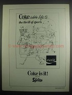 1984 Coca-Cola Soda Ad - Adds Life to Thrill of Sports