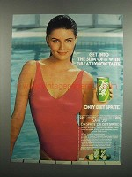 1984 Diet Sprite Soda Ad - Get Into The Slim Of It