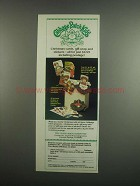 1984 Cabbage Patch Kids Christmas Cards & Stickers Ad