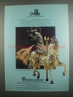 1984 Brielle Galleries Cybis Carousel Charger Ad