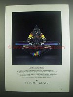 1984 Steuben Glass Ad - An Interval of Time Sculpture
