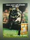 1984 Purina Thrive! Cat Food Ad - A Taste for Life