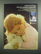 1984 Purina Cat Chow Cat Food Ad - Healthier, Happier