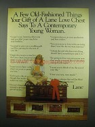 1984 Lane Love Chest Ad - No. 3969 Cherry