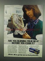 1984 Ziploc Freezer Bags Ad - Burning Your Meat