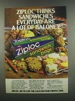 1984 Ziploc Sandwich Bags Ad - A Lot of Baloney